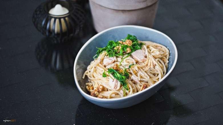Lachs Spaghetti Rezept