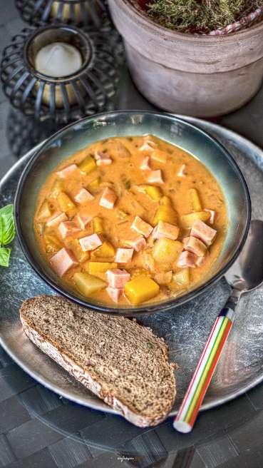 Kuerbis Kartoffel Leberkaese Gulasch Abbildung 2