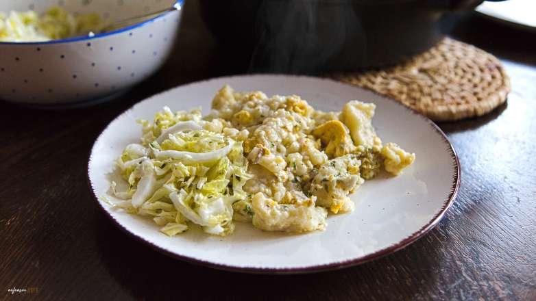 Eiernockerl mit Salat Rezept