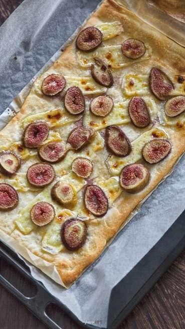 Grillteig Pizza Camembert Feige Abbildung 1
