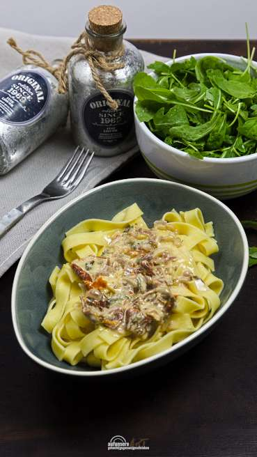 Tagliatelle Gorgonzola Tomate Abbildung 1